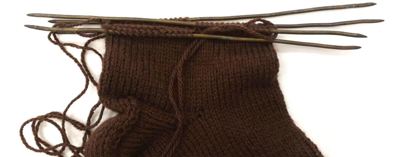 Meia de lã do acervo do MI