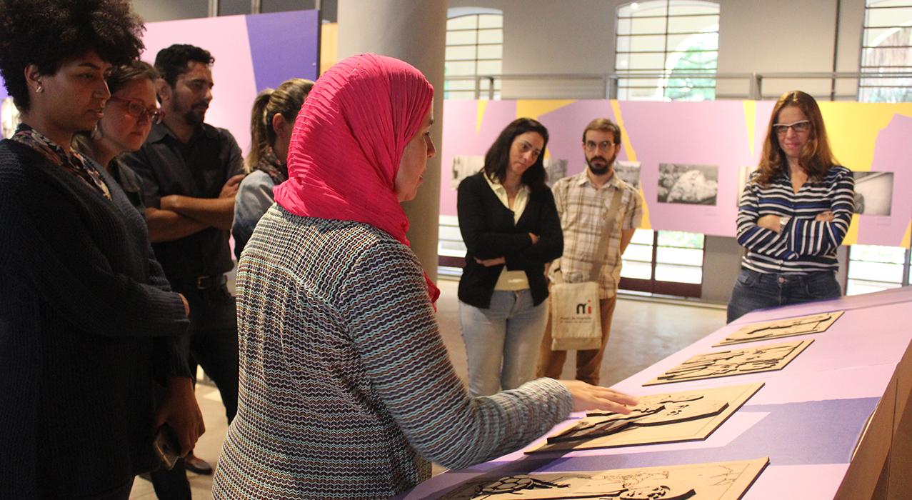 Foto do programa destinado ao público interno do Museu