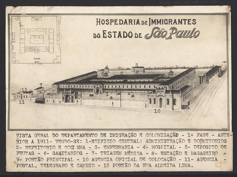 Desenho do projeto de construção do prédio em 1886